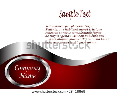 A deep red and Silver and white vector Business card or Background Template - stock vector