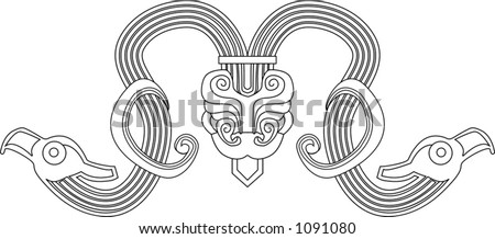 A deign element based on Chinese designs circa 7th century BC.
