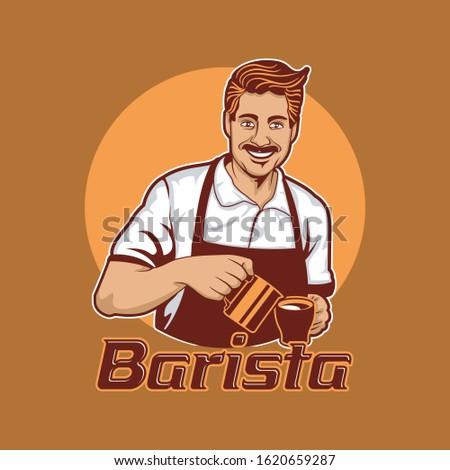 A delicious coffee is the result of a great Barista concoction