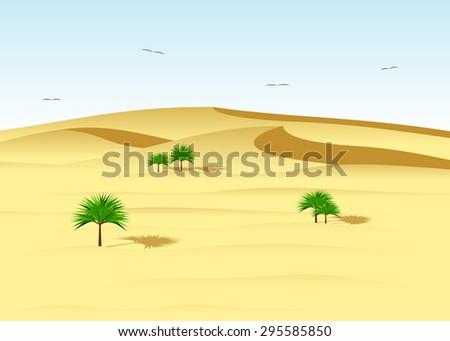 a desert landscape  dunes and