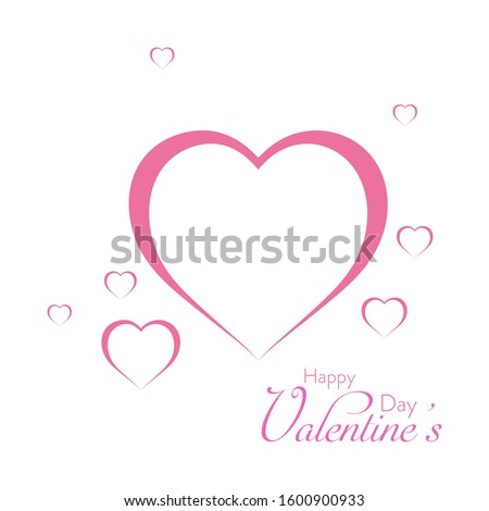A Design About Love and Valentine's Day. Using heart shape and Romance Color