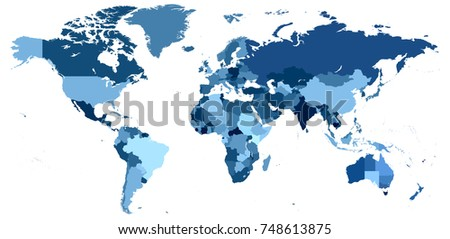 Pirmide de los ojos de los illuminati descargue grficos y a detailed vector world map with the different countries in shades of blue gumiabroncs Choice Image