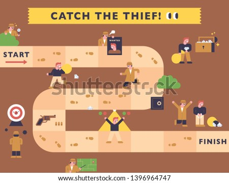 a detective catching a thief