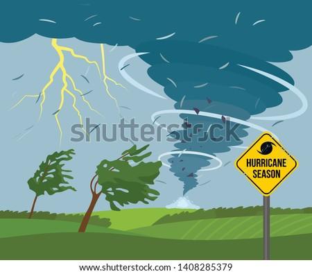 a devastating tornado in the