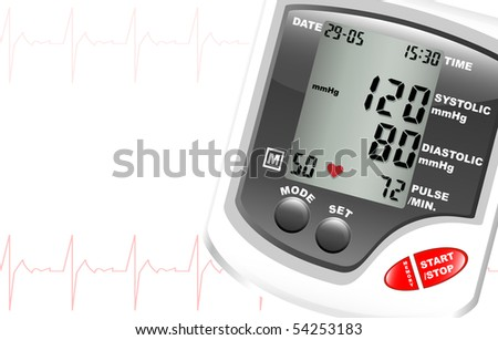 a digital blood pressure