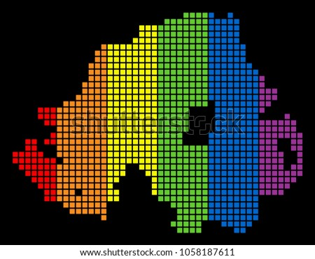 a dotted lgbt pride northern