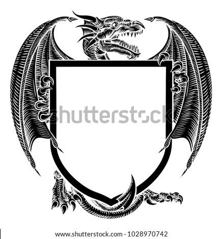 a dragon medieval heraldic coat
