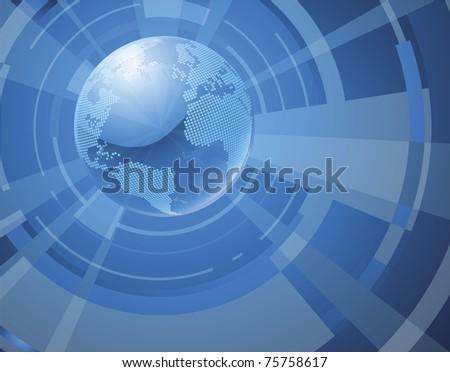 A dynamic 3d world globe background - stock vector