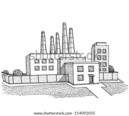 A Factory buildings