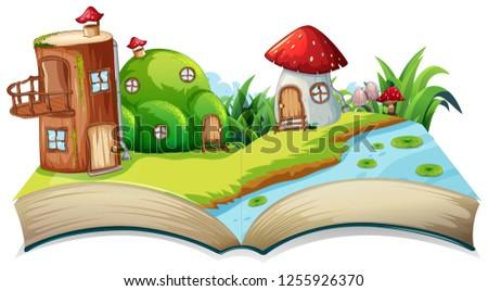 A fairyland opn open book illustration