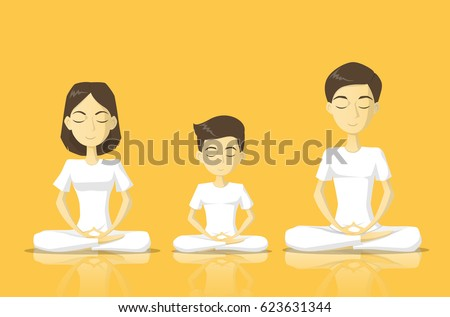 a family in white clothes