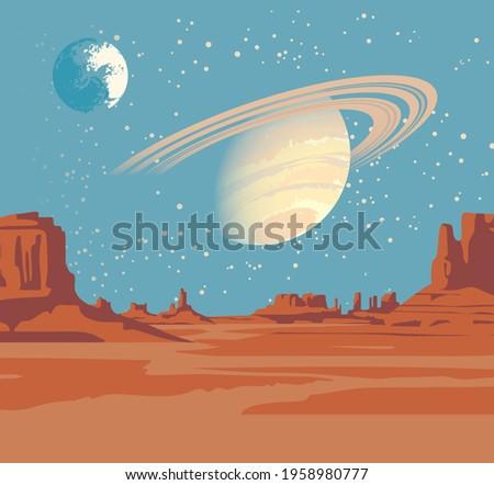 a fantastic alien landscape