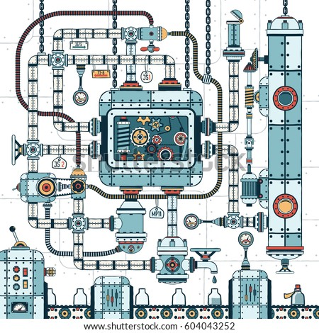 a fantastic complex steampunk