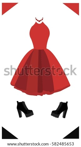 a fashionable look with red