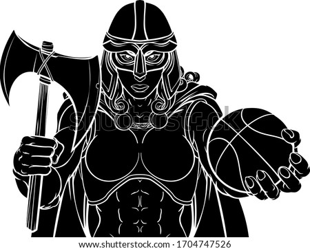 a female viking  trojan spartan