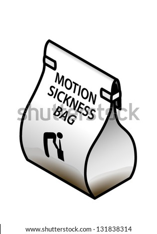 A filled/used motion sickness bag.