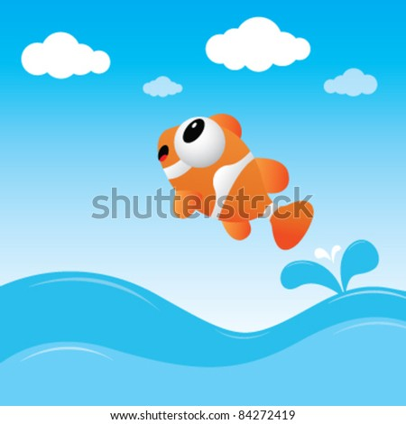 A fish jumping out of the water