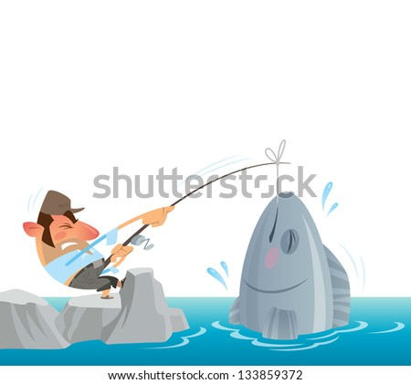 a fisher man fighting to get