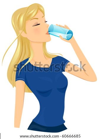 a fit lady drinking a glass of