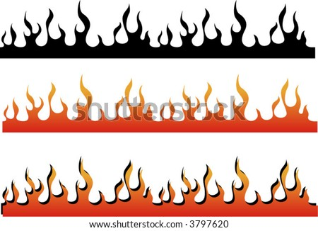 A Flame Border, Can Be Used As An Illustrator Brush Or In ...