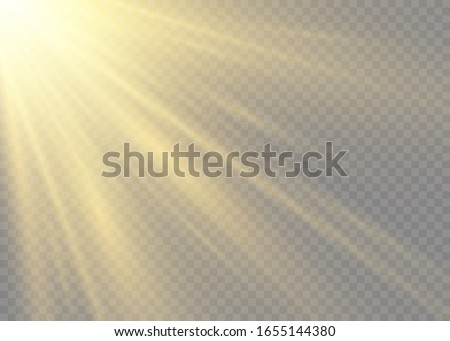 a flash of sun with rays and