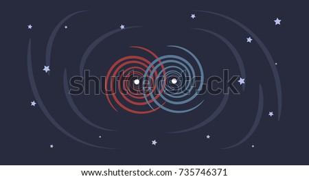a flat design illustration of