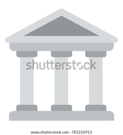a flat icon of a building with