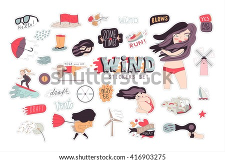 a flat vector cartoon