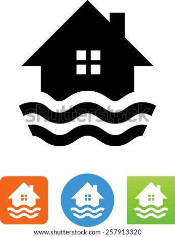 a flooding home symbol for