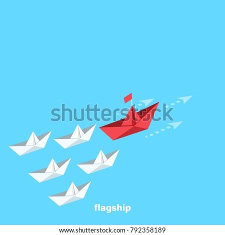 a flotilla of paper ships sails