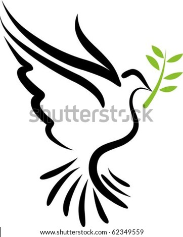 A free flying vector white dove symbol - stock vector