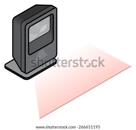 A Free Standing Desktop Barcode Scanner