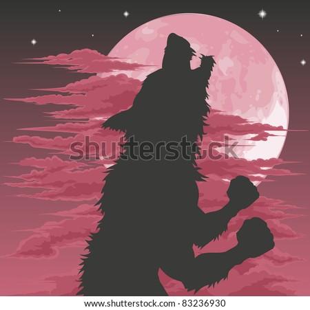 a frightening werewolf