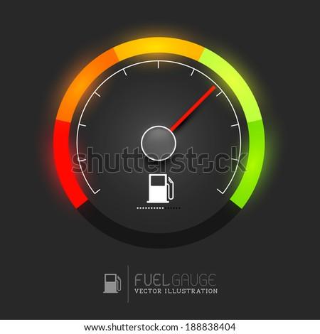 a fuel gauge  speedometer