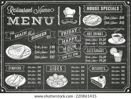 stock-vector-a-full-vector-template-chalkboard-menu-for-restaurant-and-snack-bars-with-grunge-elements-file-is