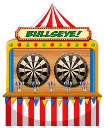 A Fun Fair Game Booth illustration