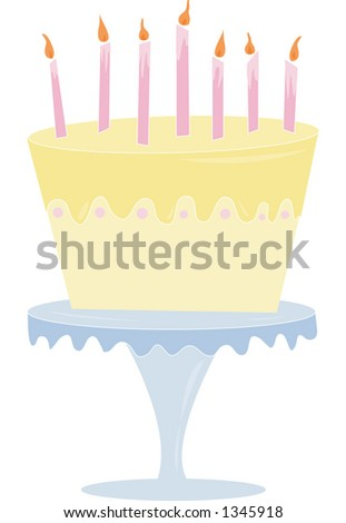 A fun & playful lemon cake. Fully editable vector illustration.