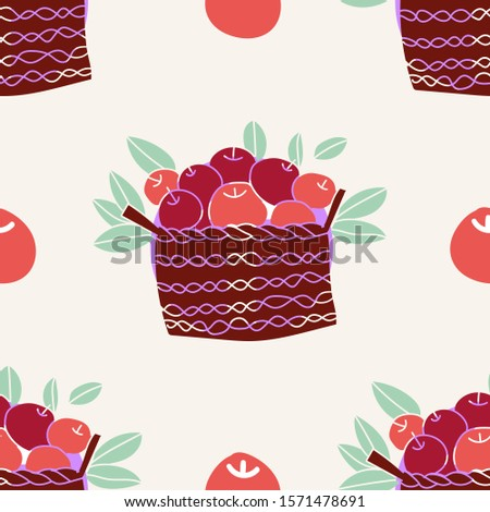a funny basket of apples and