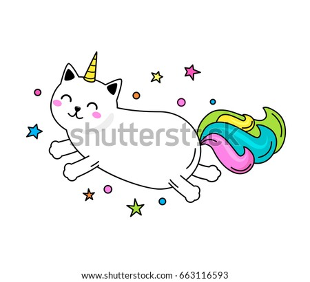 a funny unicorn cat character