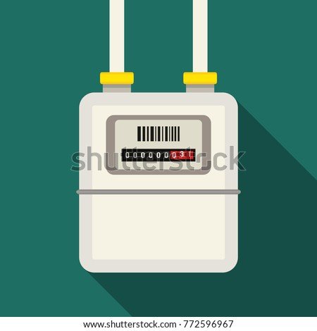 A gas meter in the private house, counter for distribution domestic gas.vector illustration isolated illustration