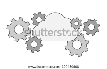 a gear collection with cloud a