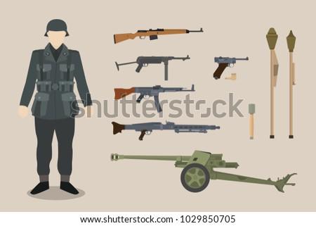 a german ww2 soldier gun