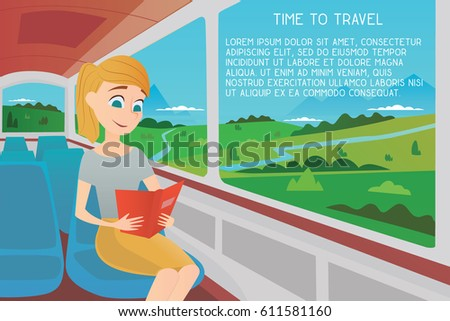 a girl on a bus reading a book