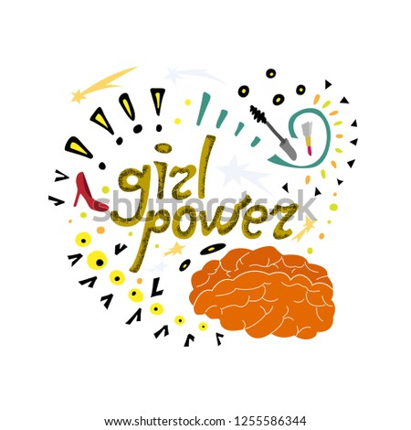 a girl power doodle the most