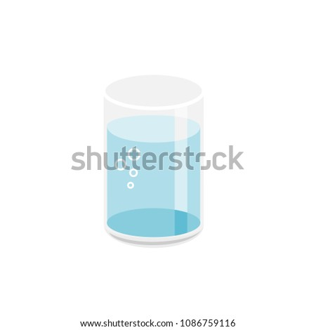 A glass of water. vector