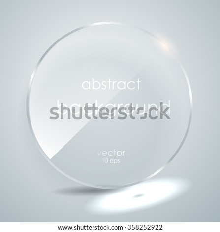 a glass plate with a place for