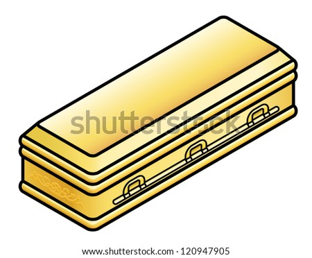 a gold casket  coffin stock vector illustration 120947905 coffin shape clipart halloween coffin clipart