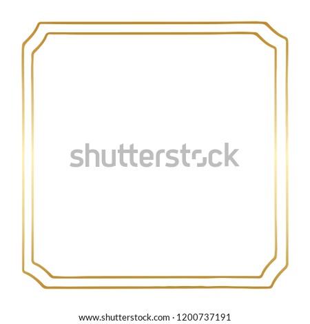 A Golden Square Vintage Style Vector Border Frame