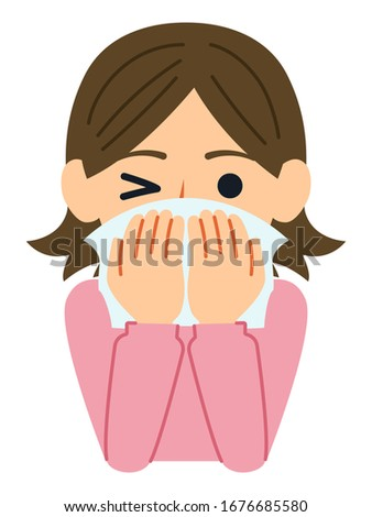 A good example of cough etiquette is to cover your mouth and nose with a tissue or handkerchief when you don't have a mask.