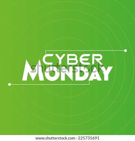 a green background with text for cyber monday